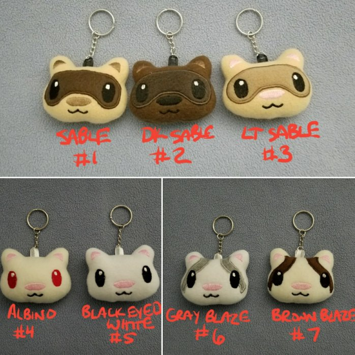 Ferret Plush Key Chain