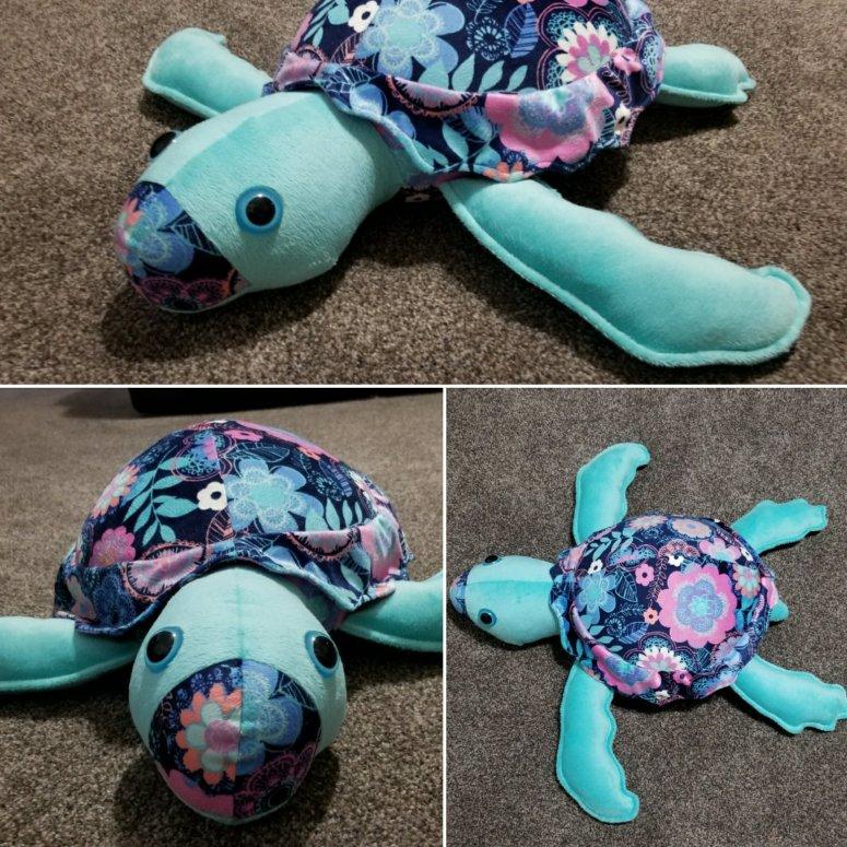 sea turtle plush pillow