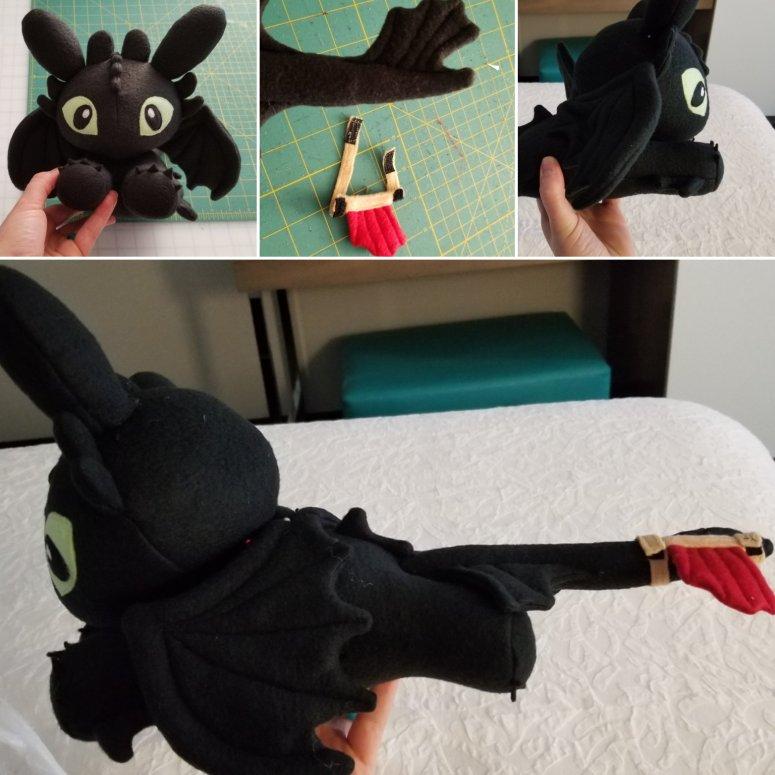 Night Fury Plush with detachable tail